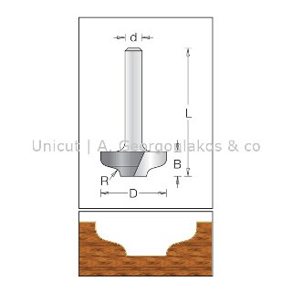Ogee Bit - Flat Bottom
